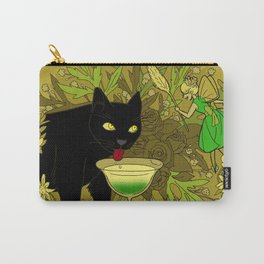 cat and green milk Carry-All Pouch