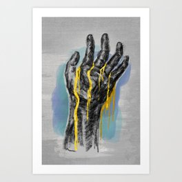 Gold Blood Art Print
