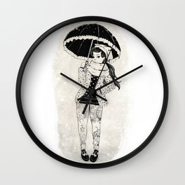 Rock Winter 2 Wall Clock