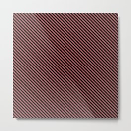 Dusty Cedar and Black Stripe Metal Print