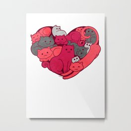 Purrfect Love! Metal Print