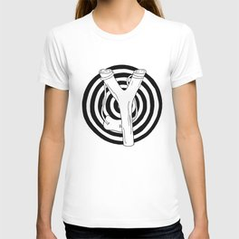 target and slingshot T-shirt