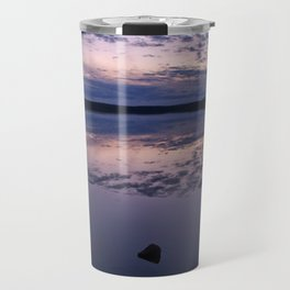 Sunset on a lake Travel Mug