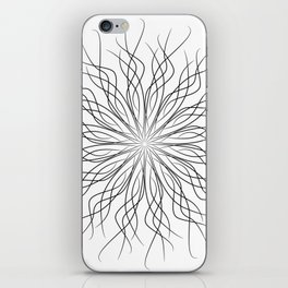 Mandalla Line Pattern iPhone Skin