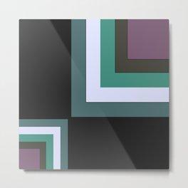 Simple geometric patchwork 2 Metal Print