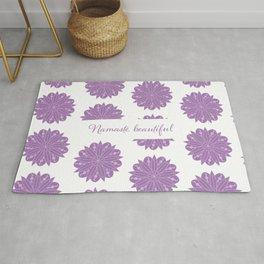 Purple Waxing Waning and Full Moon Mandala, Namaste Beautiful Rug