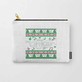 Trumpet Christmas Carry-All Pouch