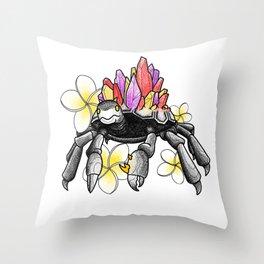 Fire Crab Throw Pillow