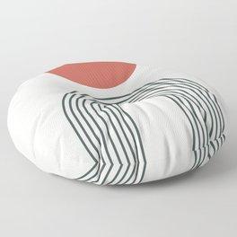 Minimalist lines no3 Floor Pillow