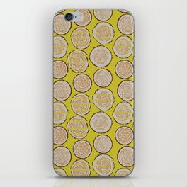 Woodcutter Log Pile Yellow iPhone Skin