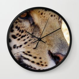 Jaguar face close up Wall Clock
