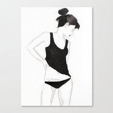 Ink Girl Canvas Print