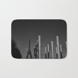 Paris en noir et blanc Tour Eiffel Bath Mat