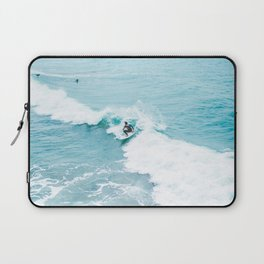 Wave Surfer Turquoise Laptop Sleeve