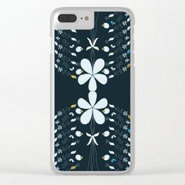 Night Garden Pattern Clear iPhone Case