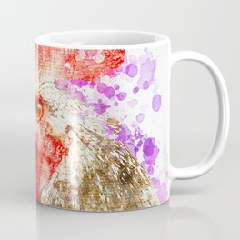 Rooster Watercolor, Painted Roost Art, Cool Chicken, Splatter Rooster Design, Rooster Decor Coffee Mug