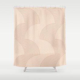 Cascade .wood Shower Curtain