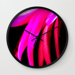 Pink and Red Streak Wall Clock