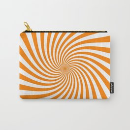 Swirl (Orange/White) Carry-All Pouch