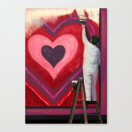 Valentine's Day Illustration Canvas Print
