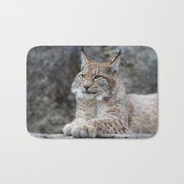 Young lynx portrait Bath Mat