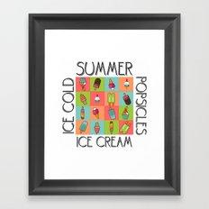 Summer Ice Cream Framed Art Print