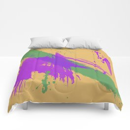 Intrepid, Abstract Brushstrokes Comforters