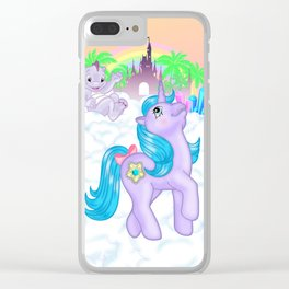 g1 my little pony Princess Amethyst and Spiny Clear iPhone Case