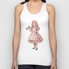 Drink Me - Alice in Wonderland illustration Unisex Tank Top
