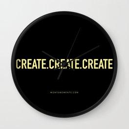 CREATE.CREATE.CREATE Wall Clock