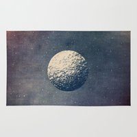 the moon Area & Throw Rugs featuring Moon by Tracie Andrews
