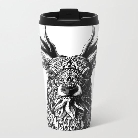 Ornate Buck Metal Travel Mug