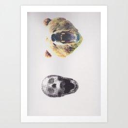 Skullz and Bearz Art Print