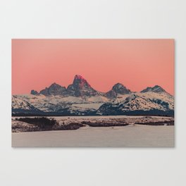 SUNSET AT THE GRAND TETONS Canvas Print