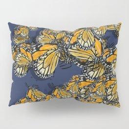 Butterfly Frenzy Spring Navy Pillow Sham