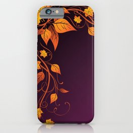Maroon Autumn Leaves iPhone Case