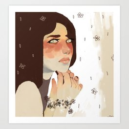 Painted-On Emotion Art Print
