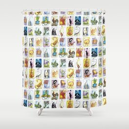 Mexican Lottery Shower Curtain