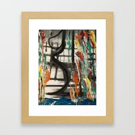 Rain Woman Framed Art Print