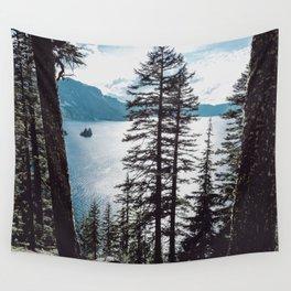 Mountain Lake Retreat Wall Tapestry