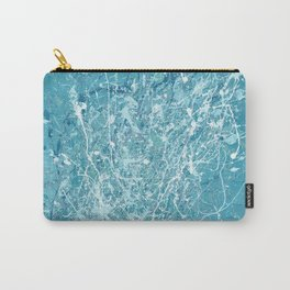 Splashy waves 03 - abstract art painting Jackson pollock style art Carry-All Pouch
