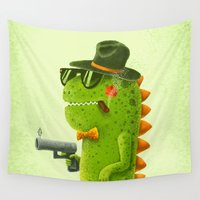 dino Wall Tapestries featuring Dino bandito by Lime