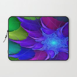 Artistic fractal abstract colour wheel Laptop Sleeve