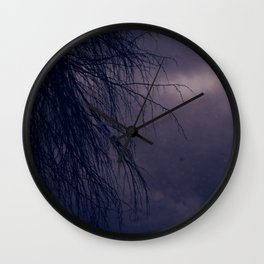 Branches in Purple Twilight Wall Clock