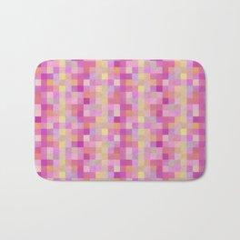 Bright Checkerboard Pattern Bath Mat