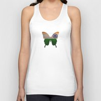 india Tank Tops featuring india butterfly by Steffi Louis