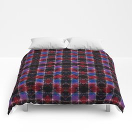 Cart Handle Semi-Plaid In Red, Pink, Blue, and Black Comforters