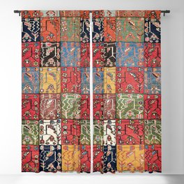 Bakhtiari Central Persian Rug Print Blackout Curtain