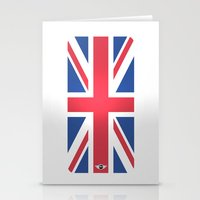 mini cooper Stationery Cards featuring Mini Cooper Top Flag by MYFASHIONCASE
