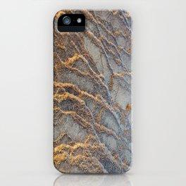 Travertine - blue gray iPhone Case